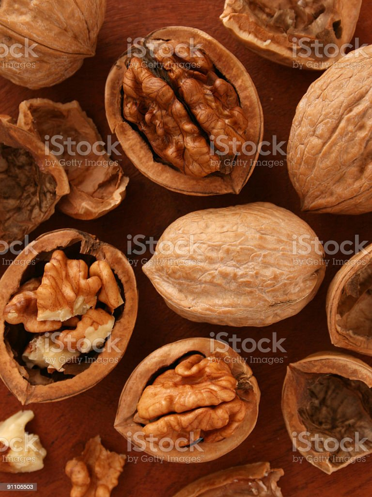 Walnuts background royalty-free stock photo