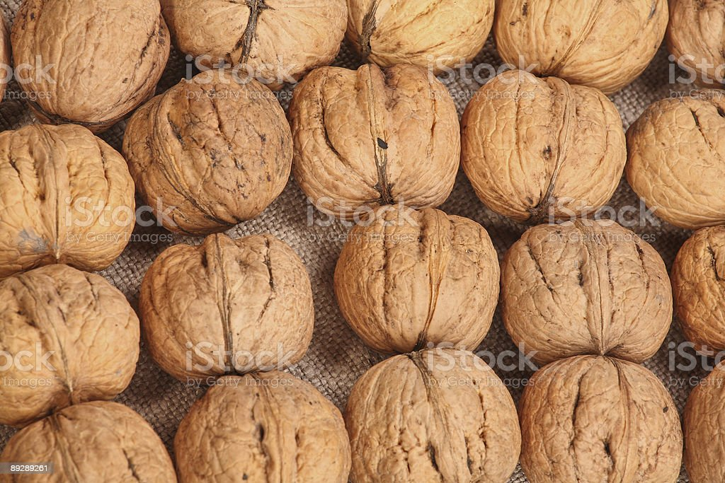 Walnuts backgrpund royalty-free stock photo