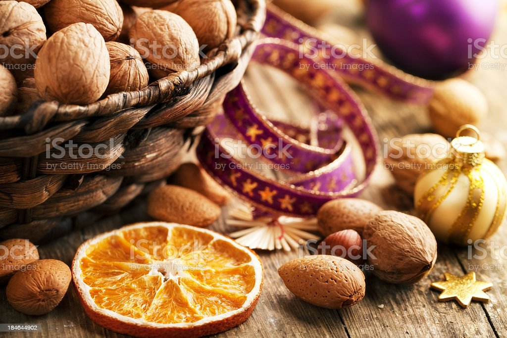 walnuts dried fruit healthy winter snack royalty-free stock photo