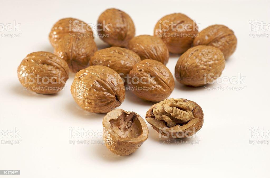 Walnuts isolated on white stock photo