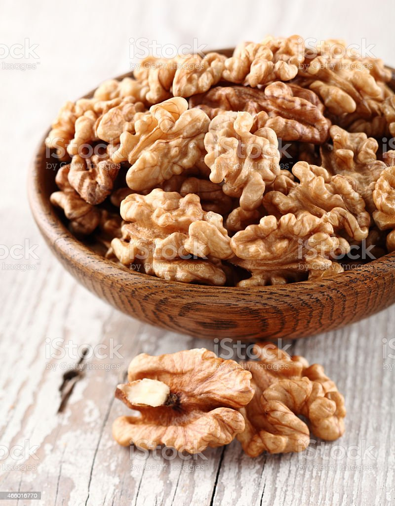 Walnuts kernel stock photo