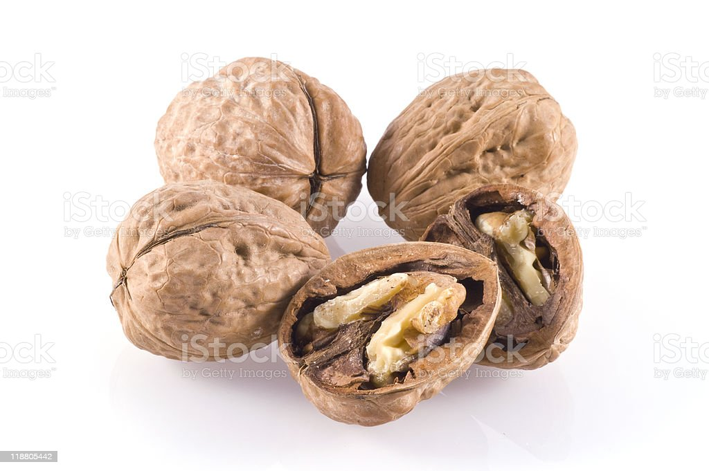 Walnuts. stock photo