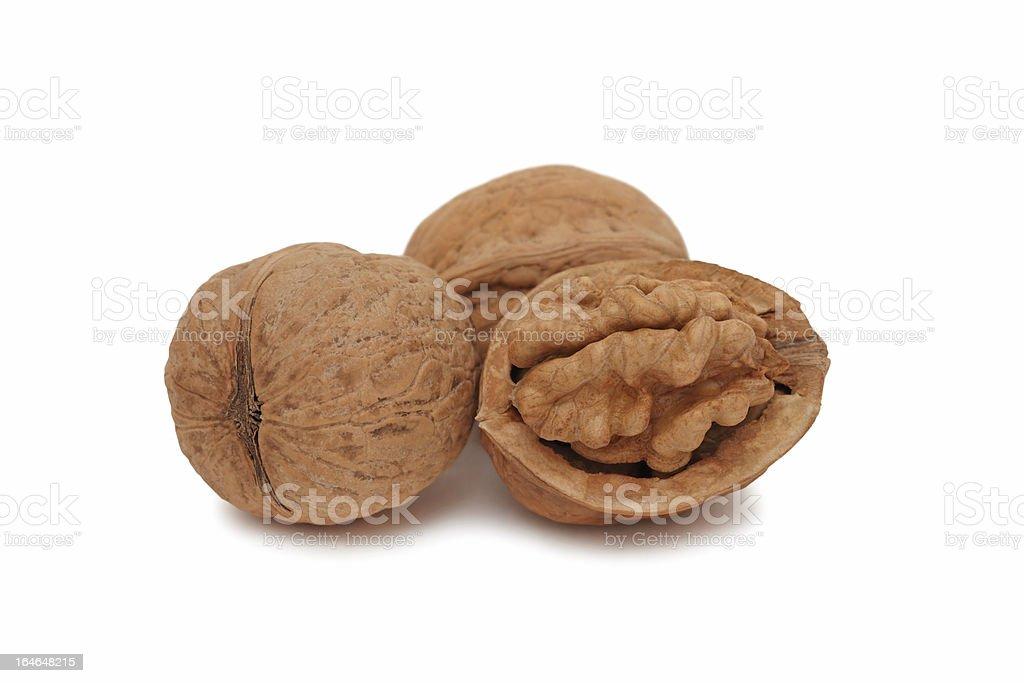 Walnuts (isolated) royalty-free stock photo