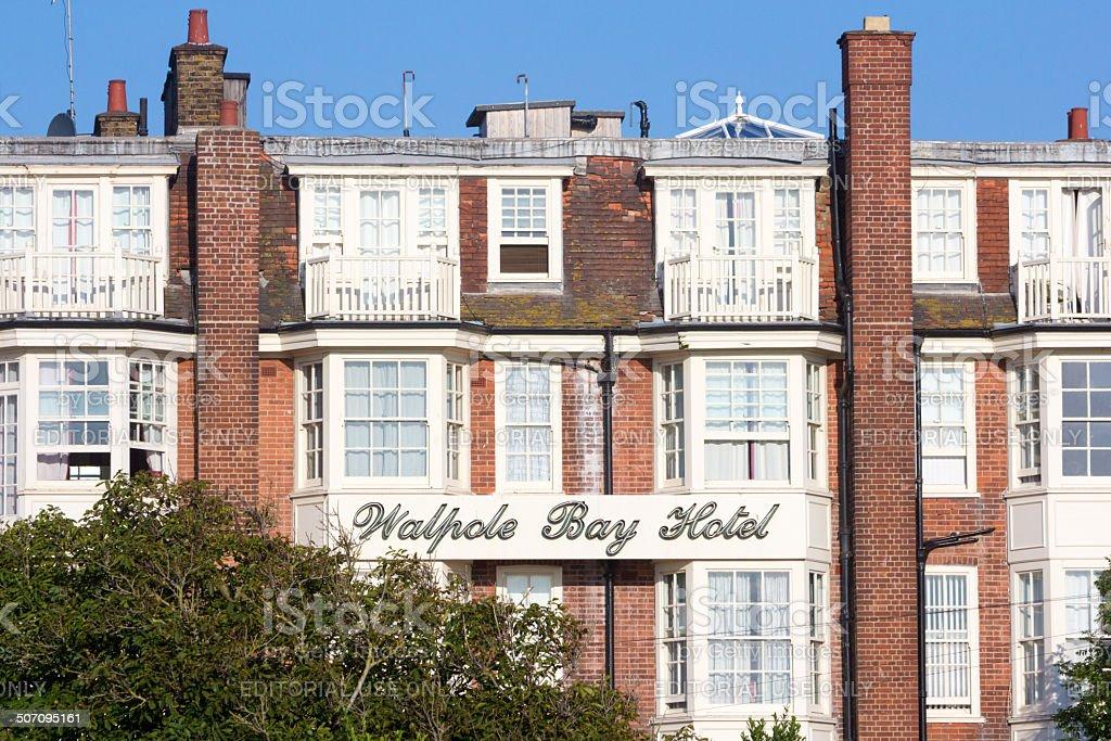 Walpole Bay Hotel in Margate, England royalty-free stock photo