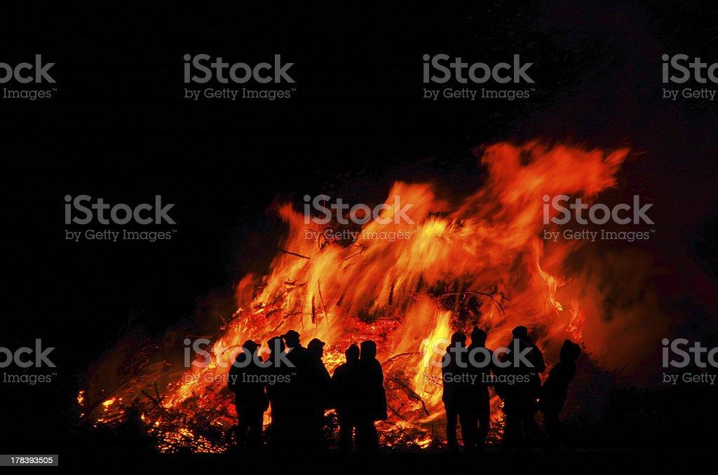 Walpurgis Night bonfire stock photo