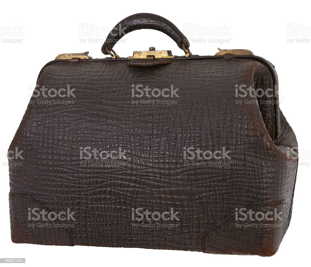 walrus skin doctors bag stock photo