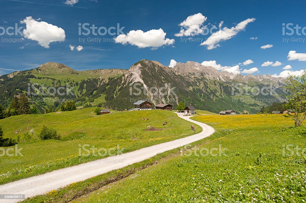 Walser Valley stock photo