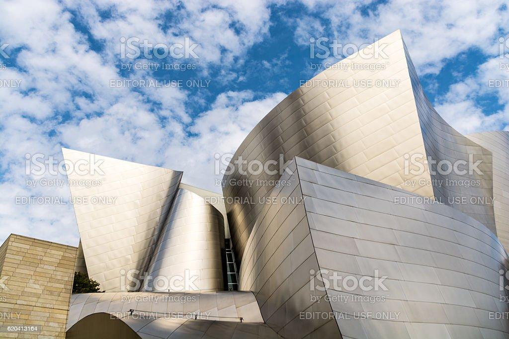 Walt Disney Concert Hall Detail stock photo