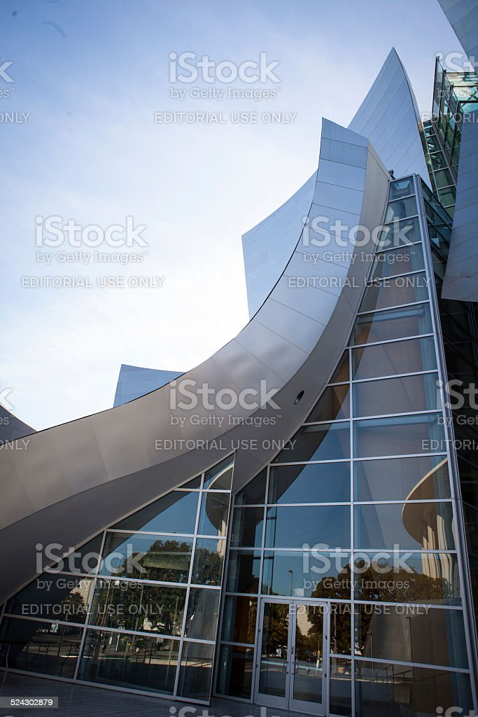 Walt Disney Concert Hall front entrance stock photo