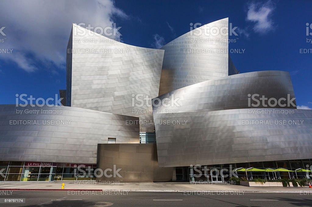 Walt Disney Concert Hall in downtown Los Angeles stock photo