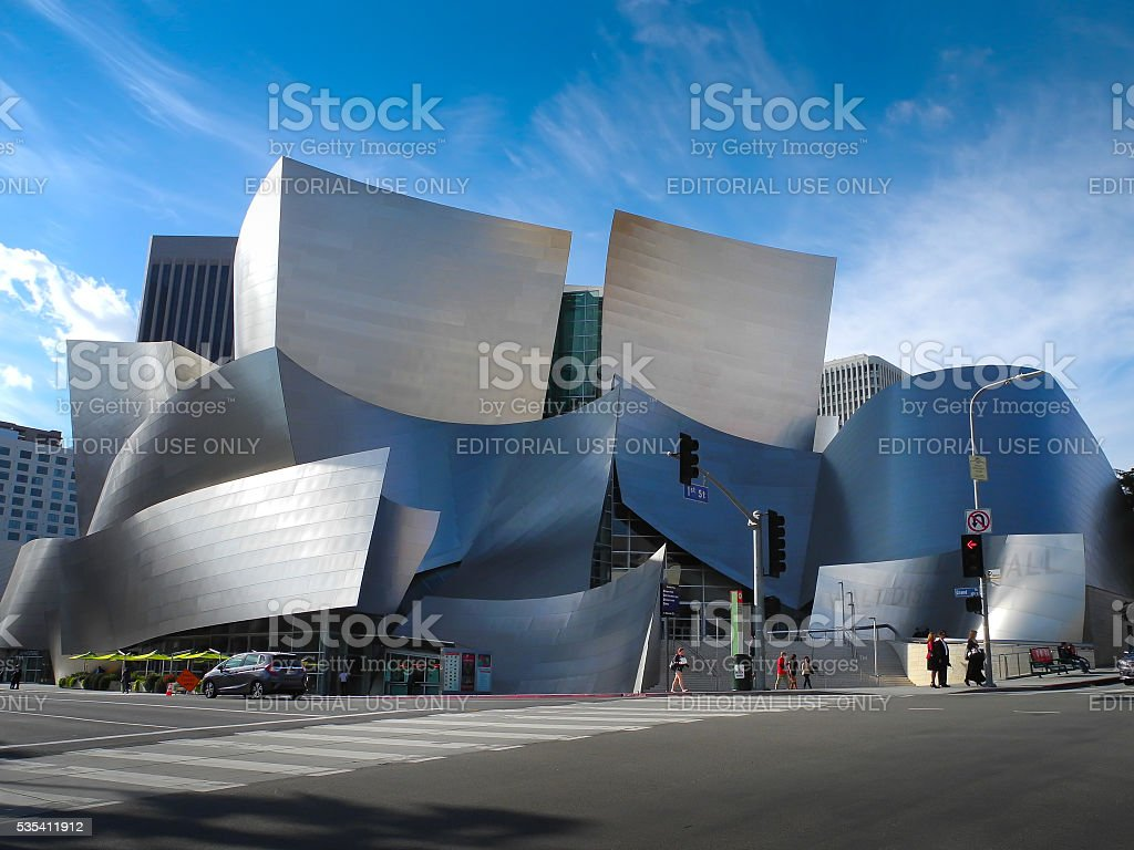Walt Disney Concert Hall in Los Angeles, CA, USA stock photo