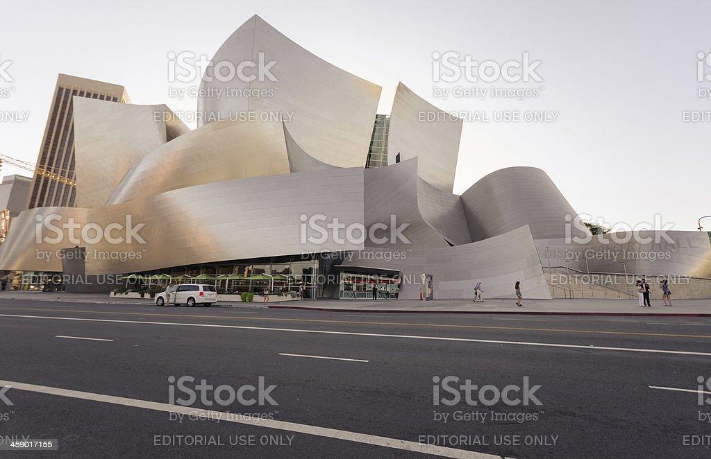 Walt disney concert Hall in Los Angeles royalty-free stock photo