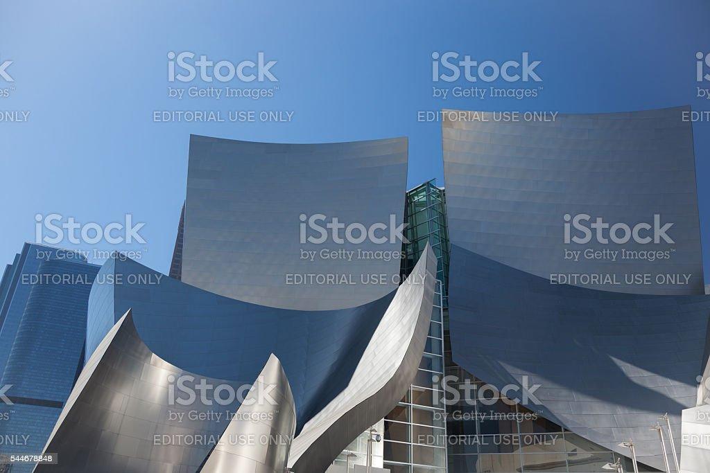 Walt Disney Concert Hall in Los Angeles stock photo