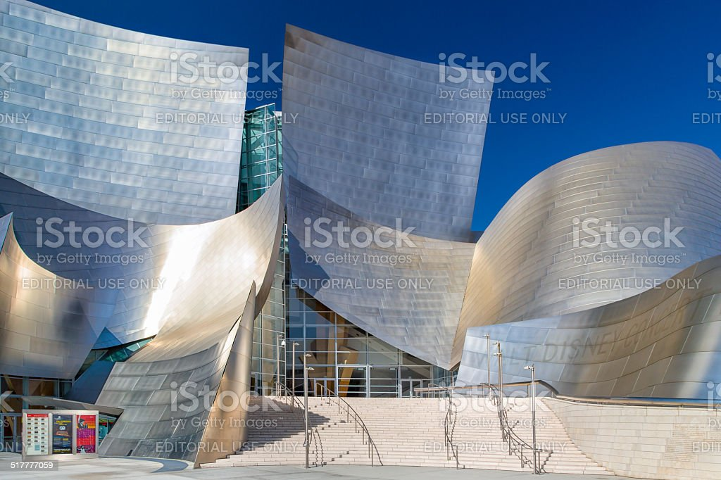 Walt Disney Concert Hall Vertical Image stock photo