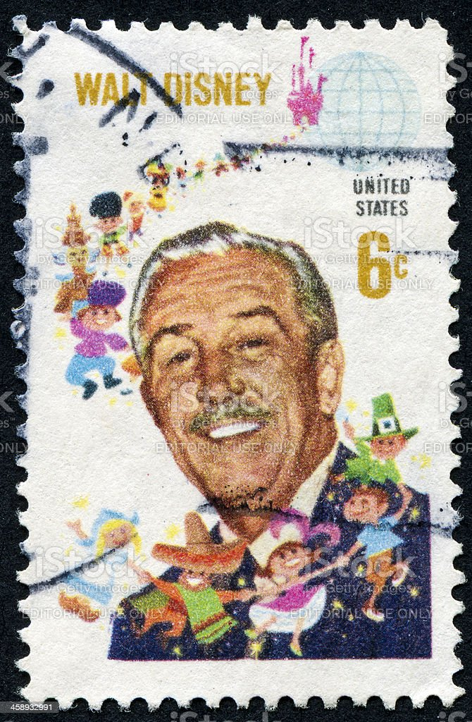 Walt Disney Stamp stock photo