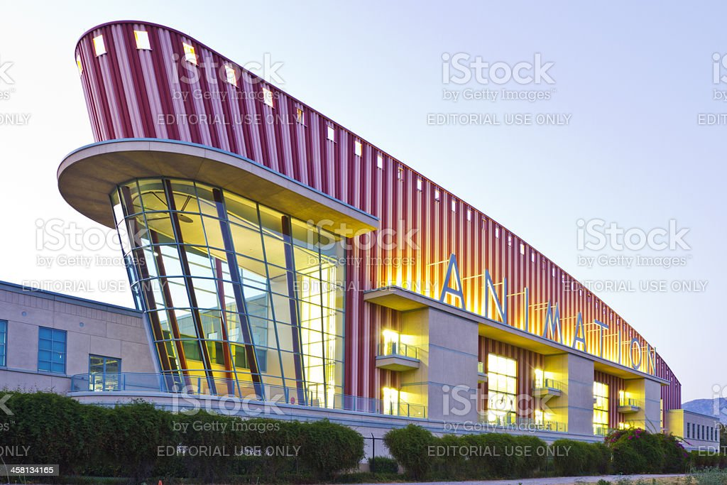 Walt Disney Studio Animation Building stock photo
