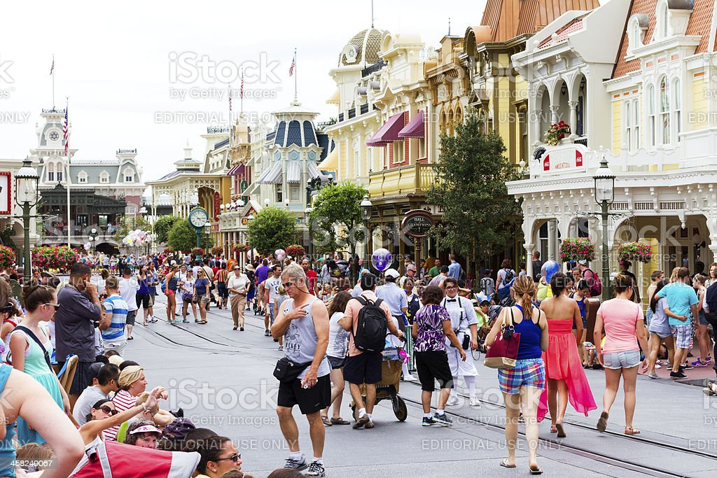 Walt Disney World Main Street USA stock photo