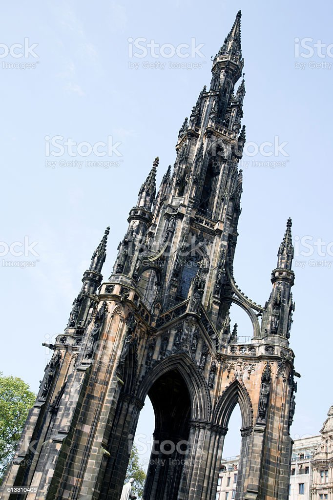 Walter Scott Monument, Edinburgh stock photo
