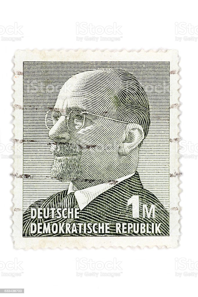 Walter Ulbricht stamp isolated on white stock photo