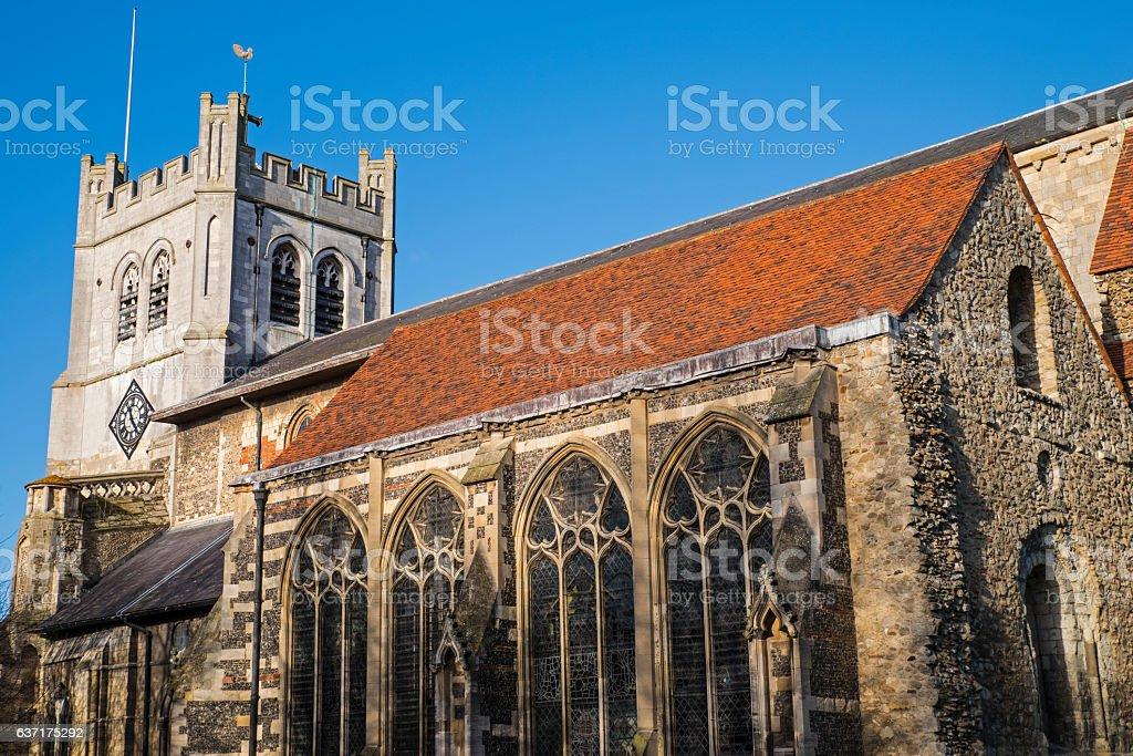 Waltham Abbey Church stock photo