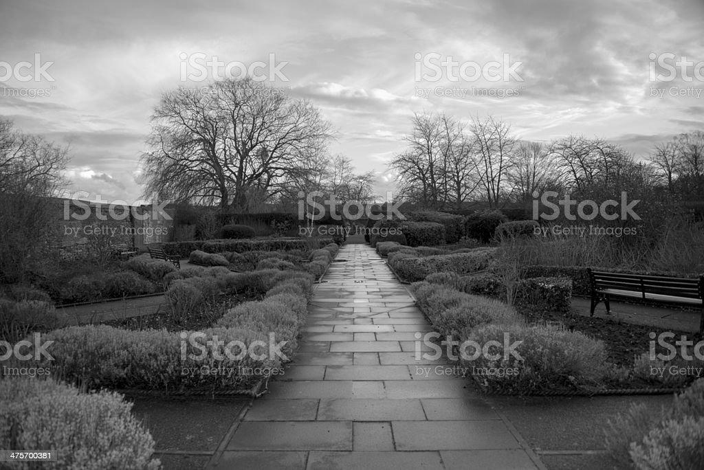 Waltham Abbey Gardens stock photo