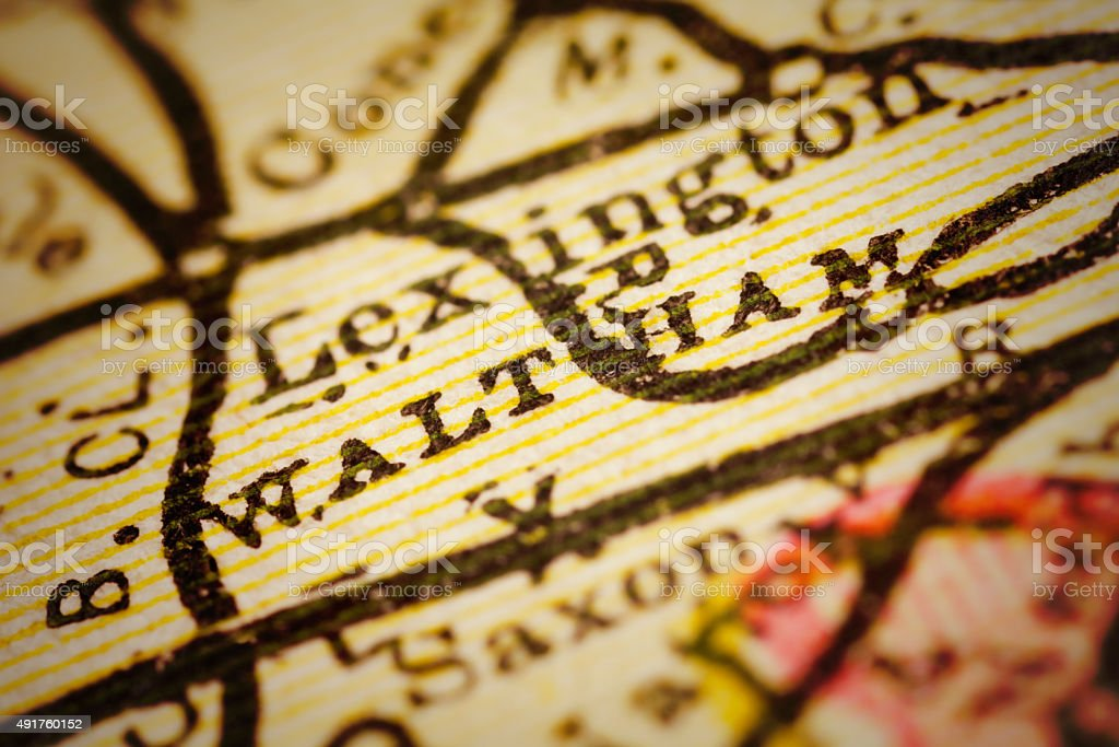 Waltham, Massachusets on an Antique map stock photo
