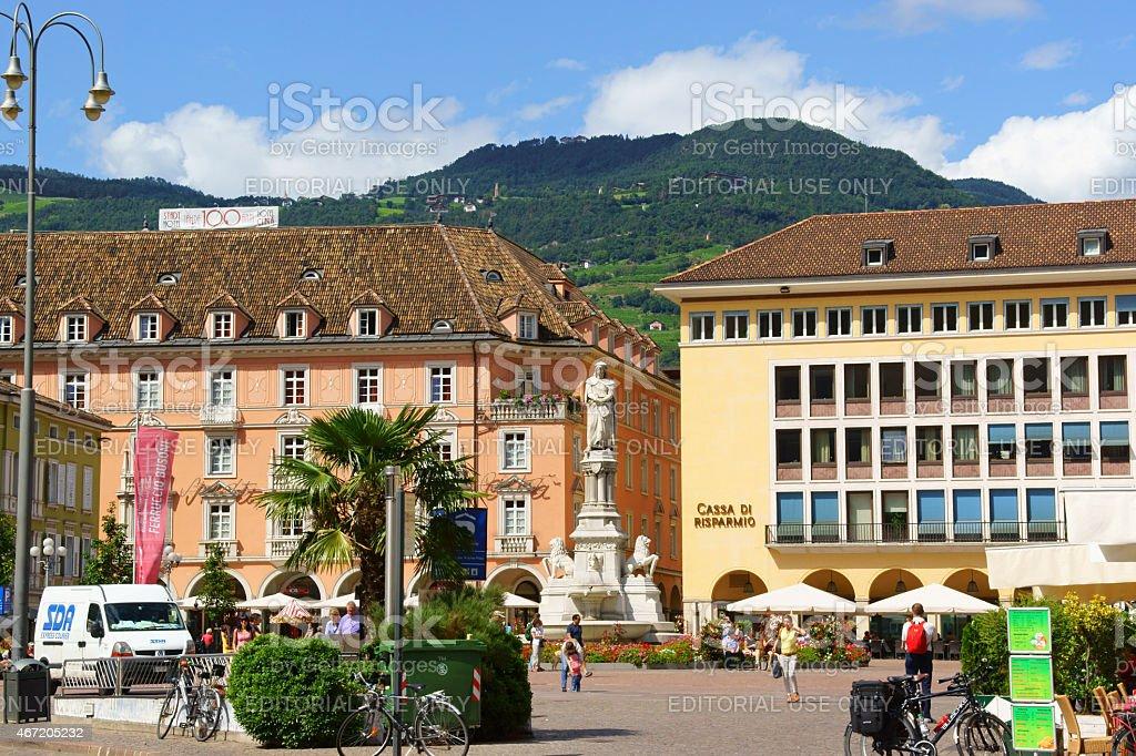 Walther Square in Bolzano (Bozen), Italy stock photo