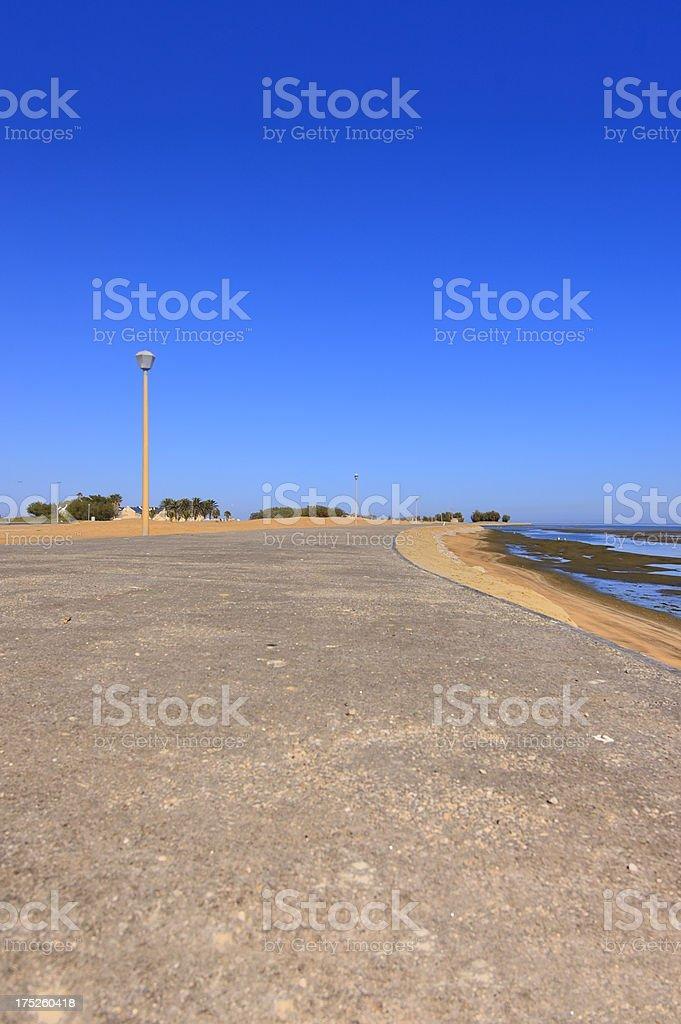 Walvis Bay Lagoon Esplanade royalty-free stock photo