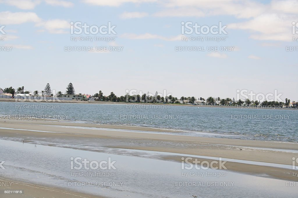 Walvis Bay Lagoon stock photo