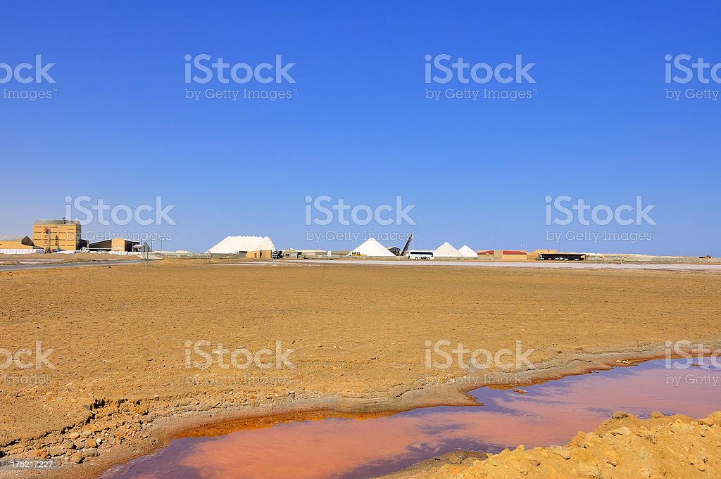 Walvis Bay Salt Mine royalty-free stock photo