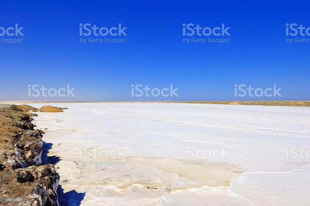 Walvis Bay Salt Pan royalty-free stock photo