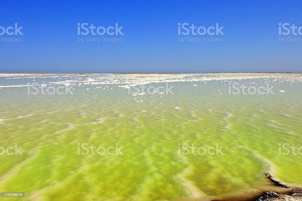 Walvis Bay Salt Pond stock photo