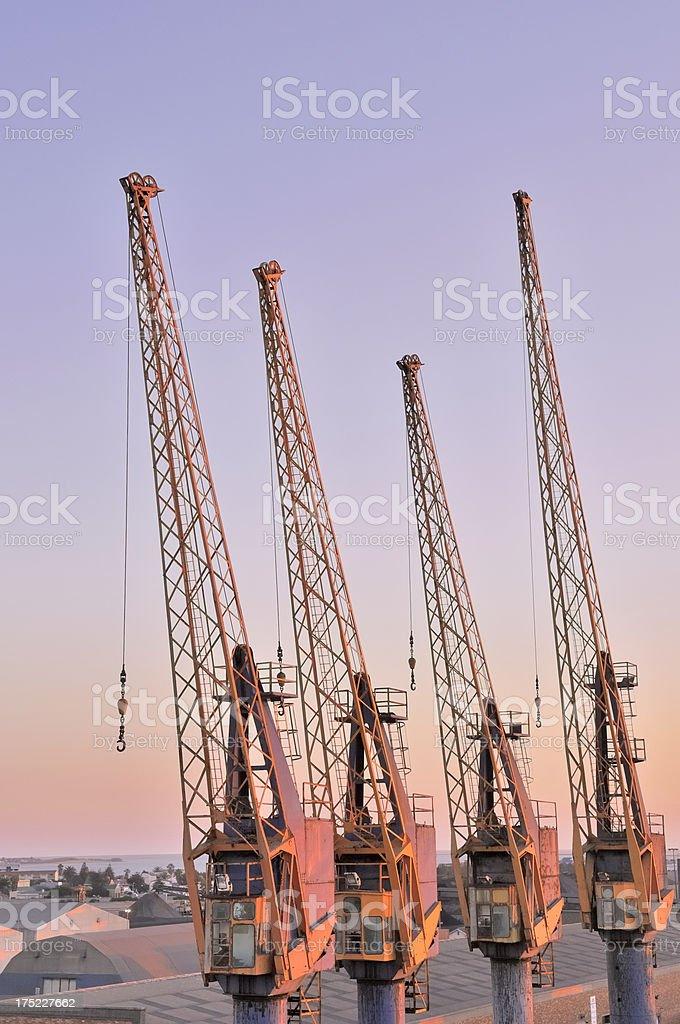 Walvis Bay Tower Cranes stock photo