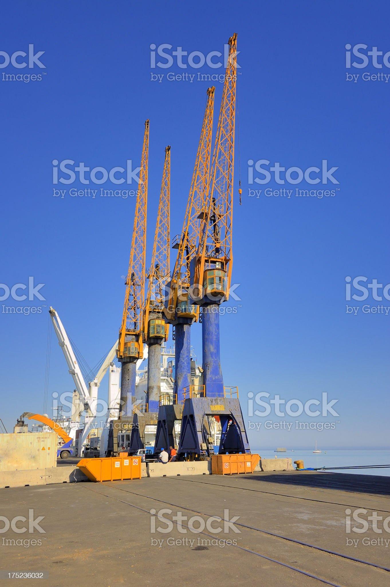 Walvis Bay Tower Dock Cranes royalty-free stock photo