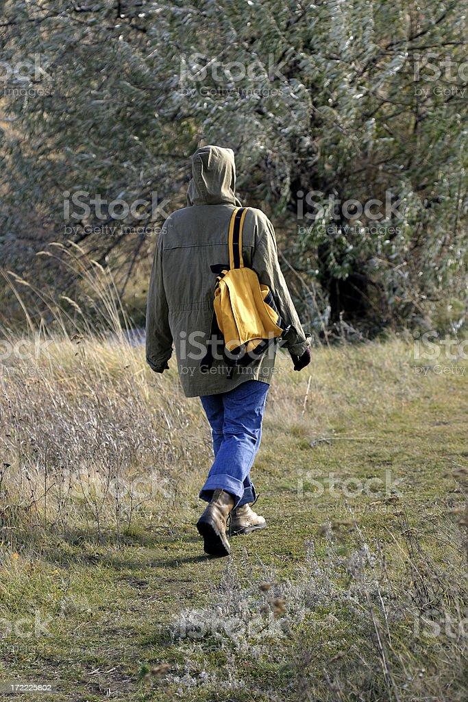 Wanderer stock photo