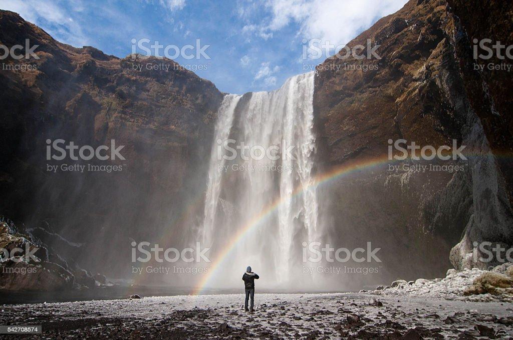 Wandering Iceland stock photo