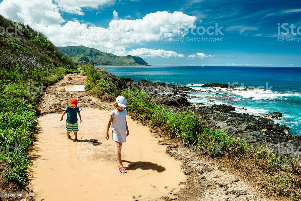 Wanderlust Hawaii stock photo