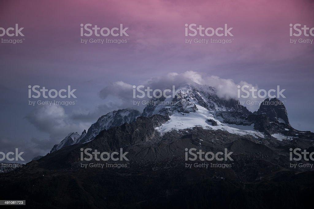 Wandern in den Bergen Alpen von Schweiz Frankreich ?sterreich stock photo