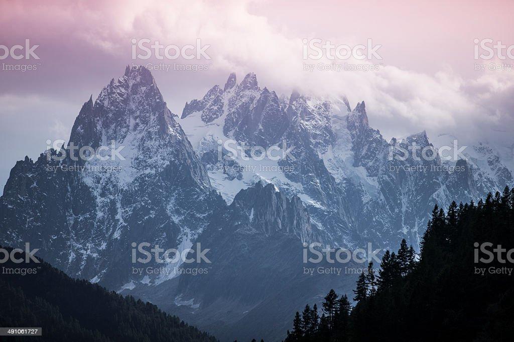 Wandern in den Bergen Alpen von Schweiz Frankreich Österreich stock photo