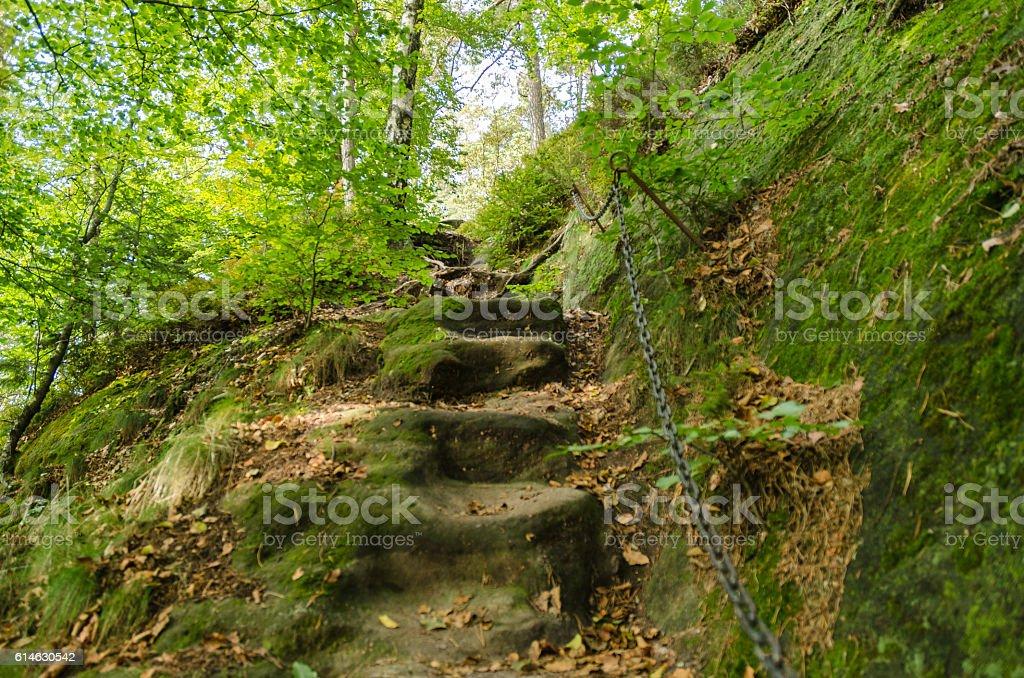 Wanderziele sächsische Schweiz stock photo