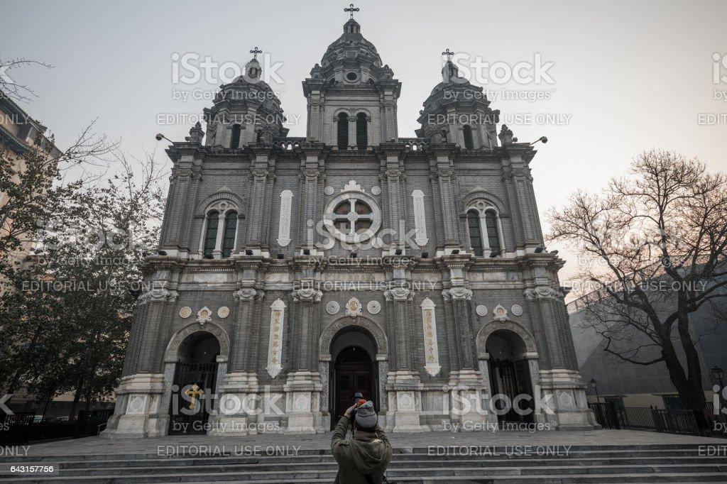 Wangfujing Catholic Church, Beijing, China stock photo