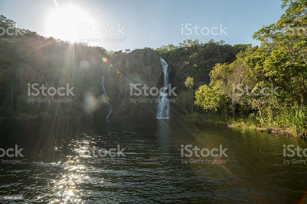 Wangi falls in Litchfield national park stock photo