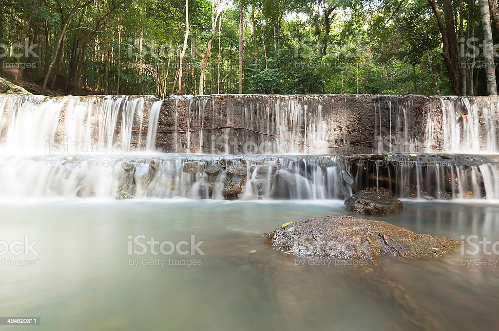 Wangsai waterfall, Koh Phangan, Thailand royalty-free stock photo