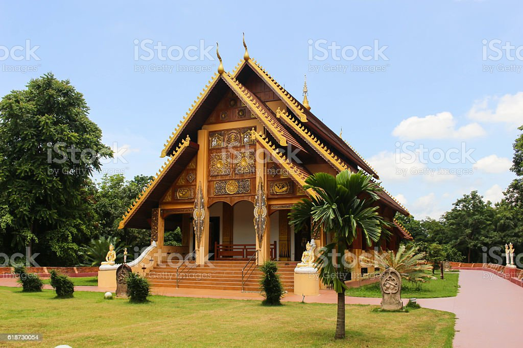 Wangwimok Temple stock photo