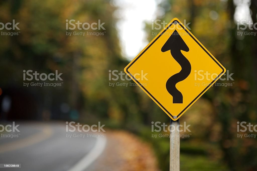 waning traffic sign stock photo