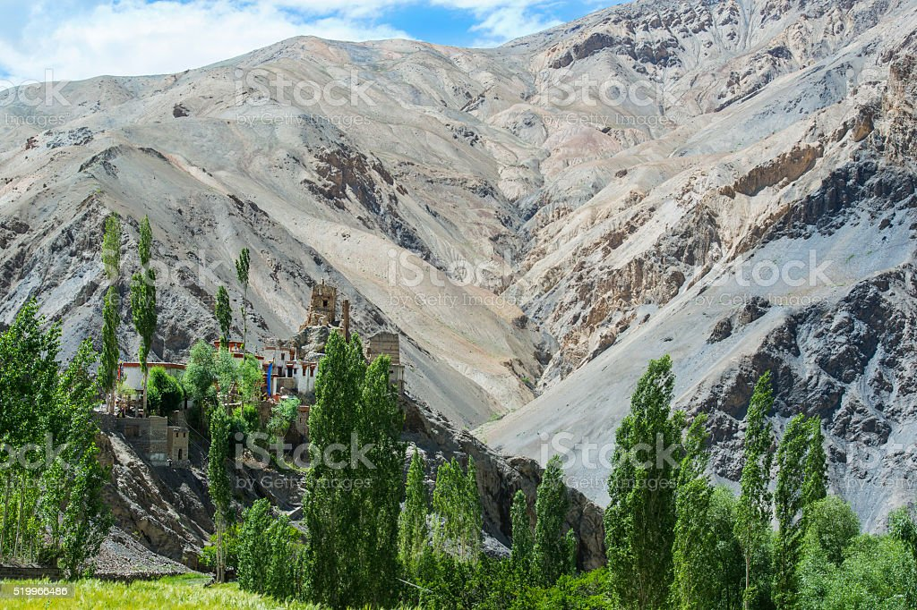 Wanla Monastery in Ladakh, India stock photo
