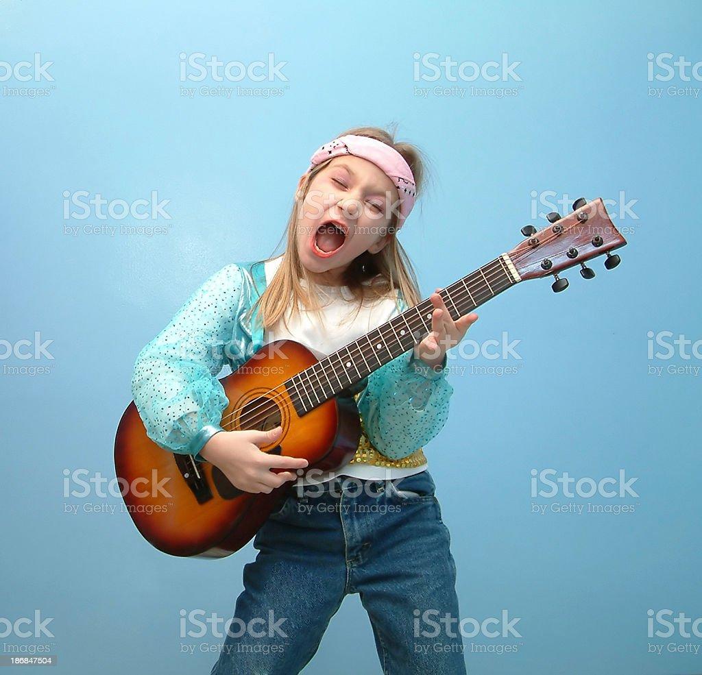 I Wanna Be A Rock Star. stock photo