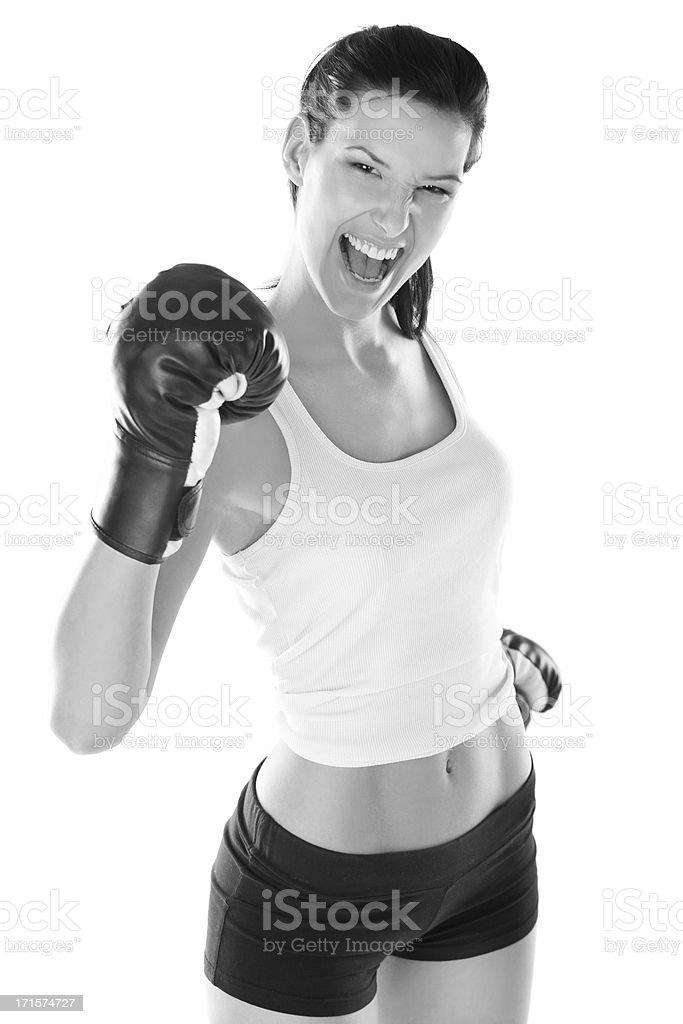 Wanna fight? stock photo