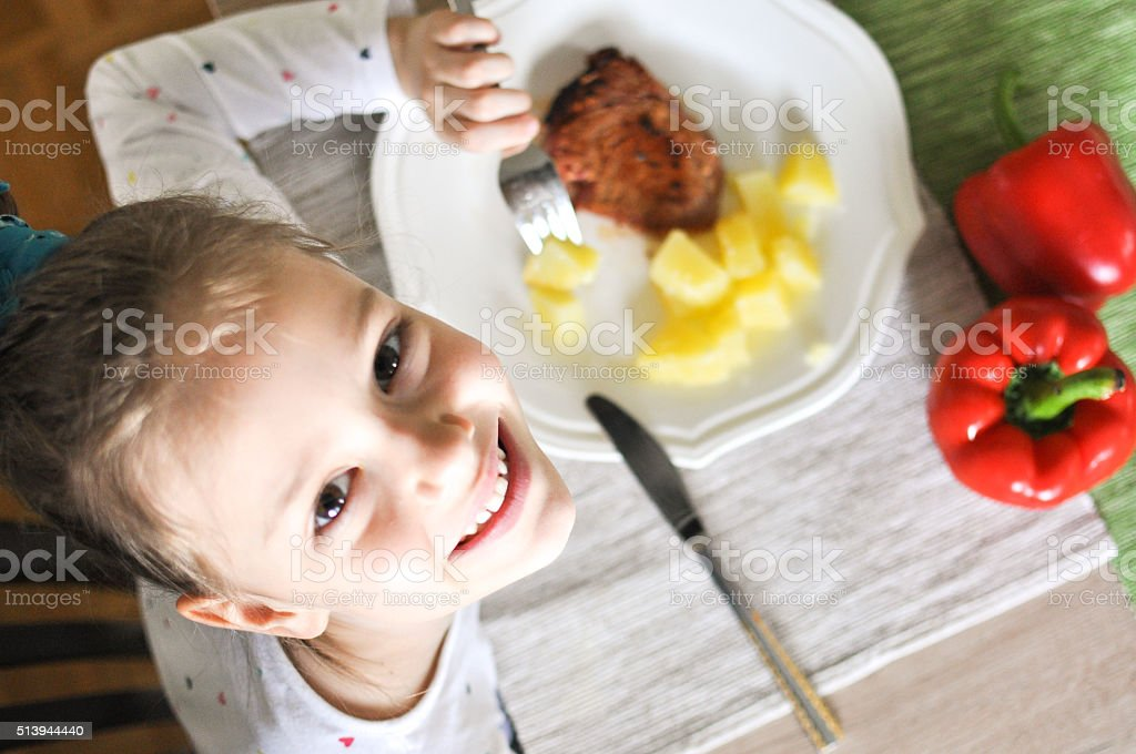 Wanna have lunch with me? stock photo