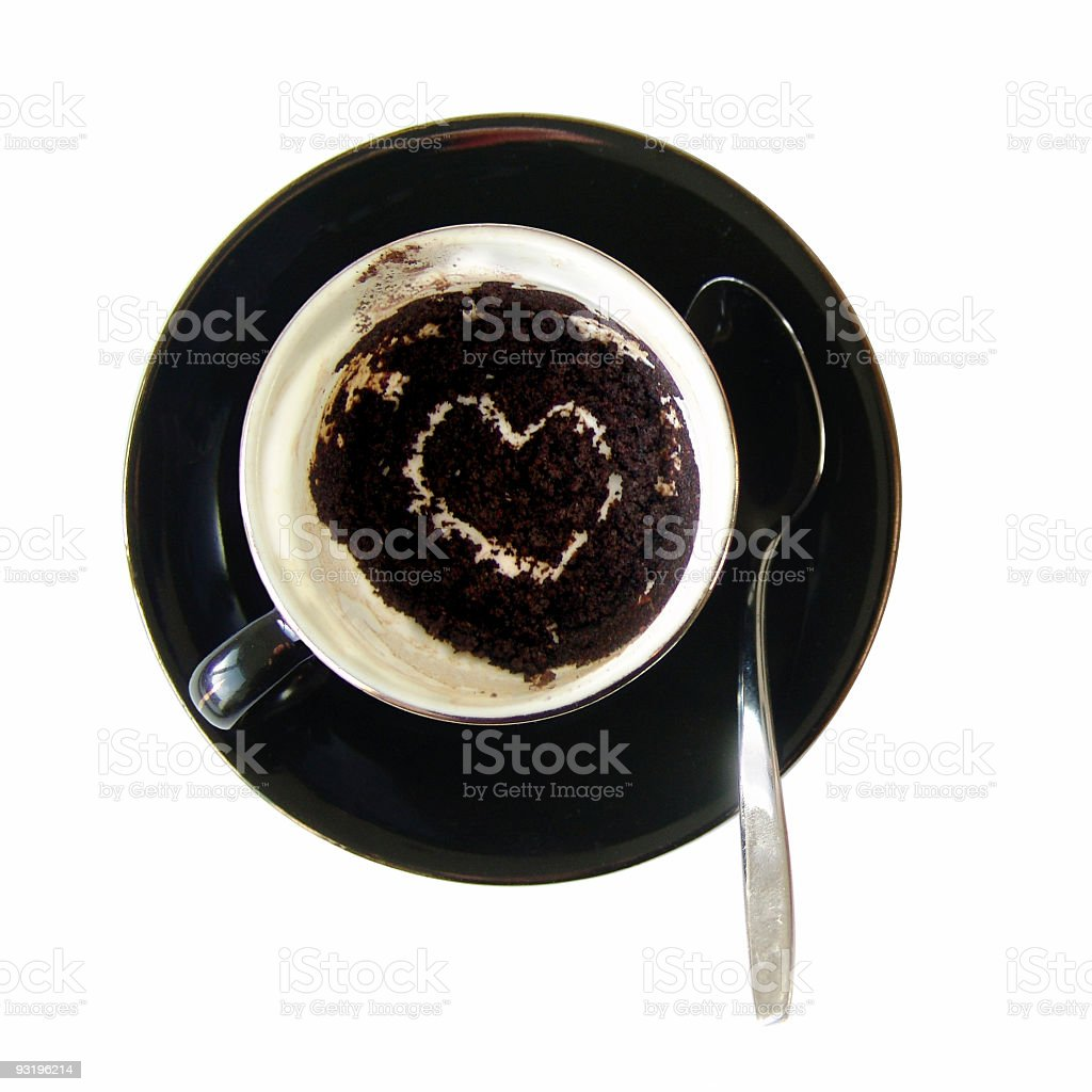 Wanna read the coffee-ground with me? royalty-free stock photo